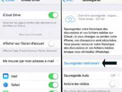 Sauvegarder vos conversations whatsapp sur iCloud